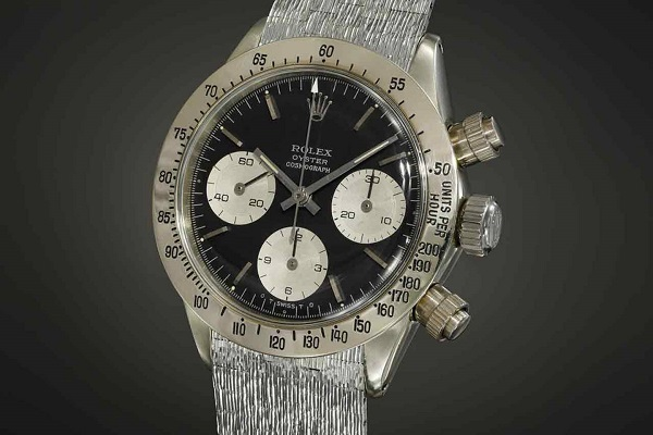 The White Gold Rolex Daytona sold for $5,9 million at Auction