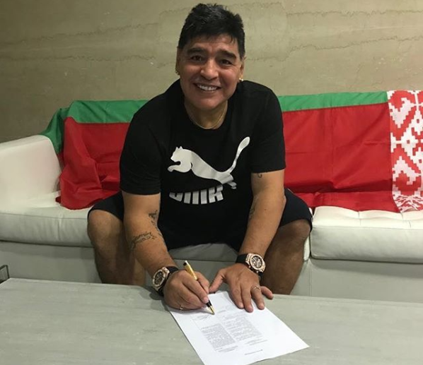 Diego Maradona joins Belarusian club Dynamo Brest as chairman after Fujairah departure