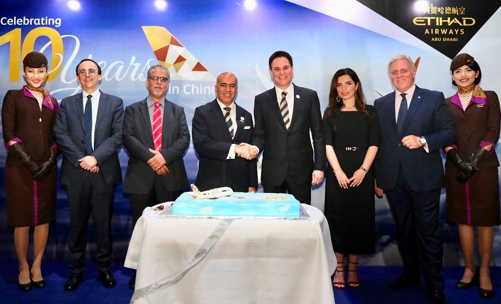 Etihad Airways celebrates ten years of successful operations in China