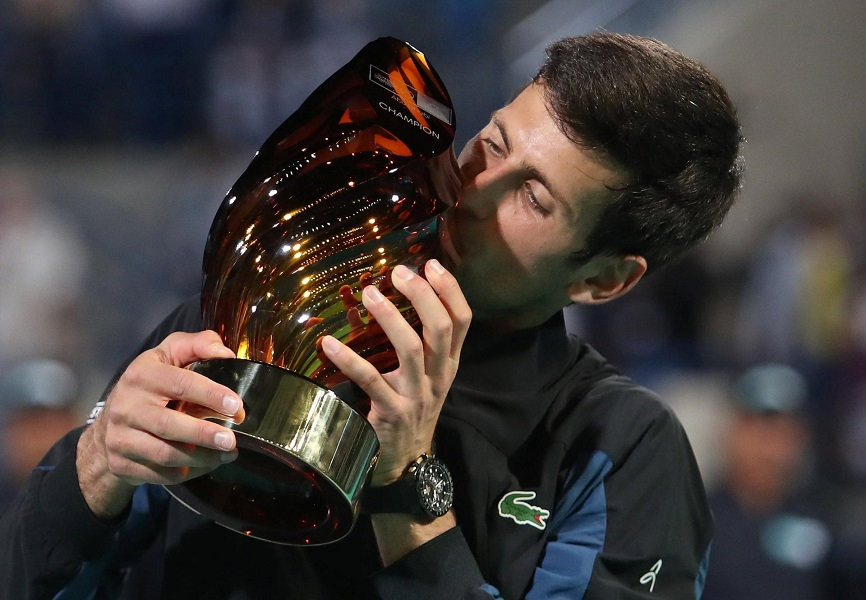 Novak Djokovic comes from behind to win Abu Dhabi title