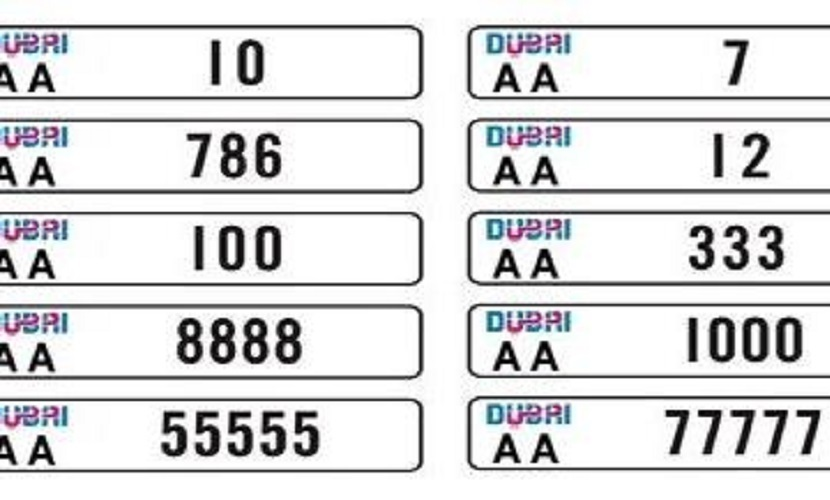 New Dubai Number Plates Go Under The Hammer