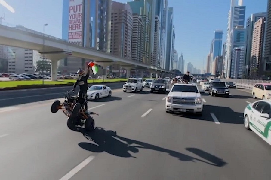 Dubai Police break Guinness World Record for world's longest ATV wheelie