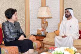 迪拜酋长谢赫穆罕默德接见中央统战部部长孙春兰