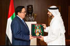 Khalifa confers Zayed II Order on ambassador of Kazakhstan