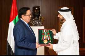 Khalifa confers Zayed II Order on ambassador of Kazakhstan