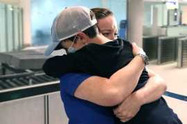 9-year-old boy reunited with family in Dubai after being stuck in Australia for 2 months (Video)