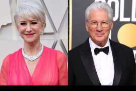Helen Mirren and Richard Gere voted celebs who have aged the best