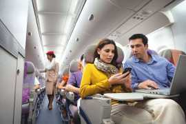 Emirates celebrates 10 years of mobile phone connectivity on flights