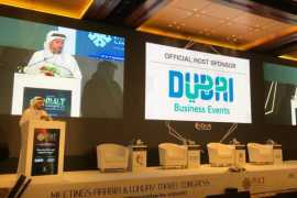 Issam Kazim, CEO of Dubai Tourism opens up the 9th Annual MALT Congress