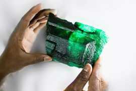 Gemfields introduces 'Inkalamu', the 5,655 carat Lion Emerald