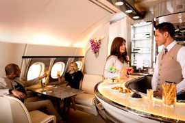 Enhanced Emirates A380 onboard lounge to launch at ITB Berlin