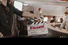 Watch the behind the scene of Jannifer Aniston's new TV commecial with Emirates Airlines